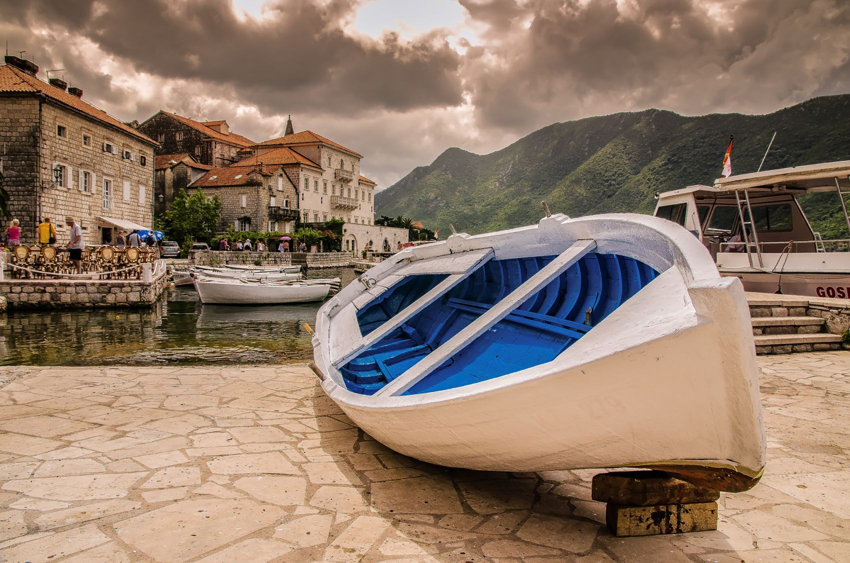 Old boat on the pear,Montenegro