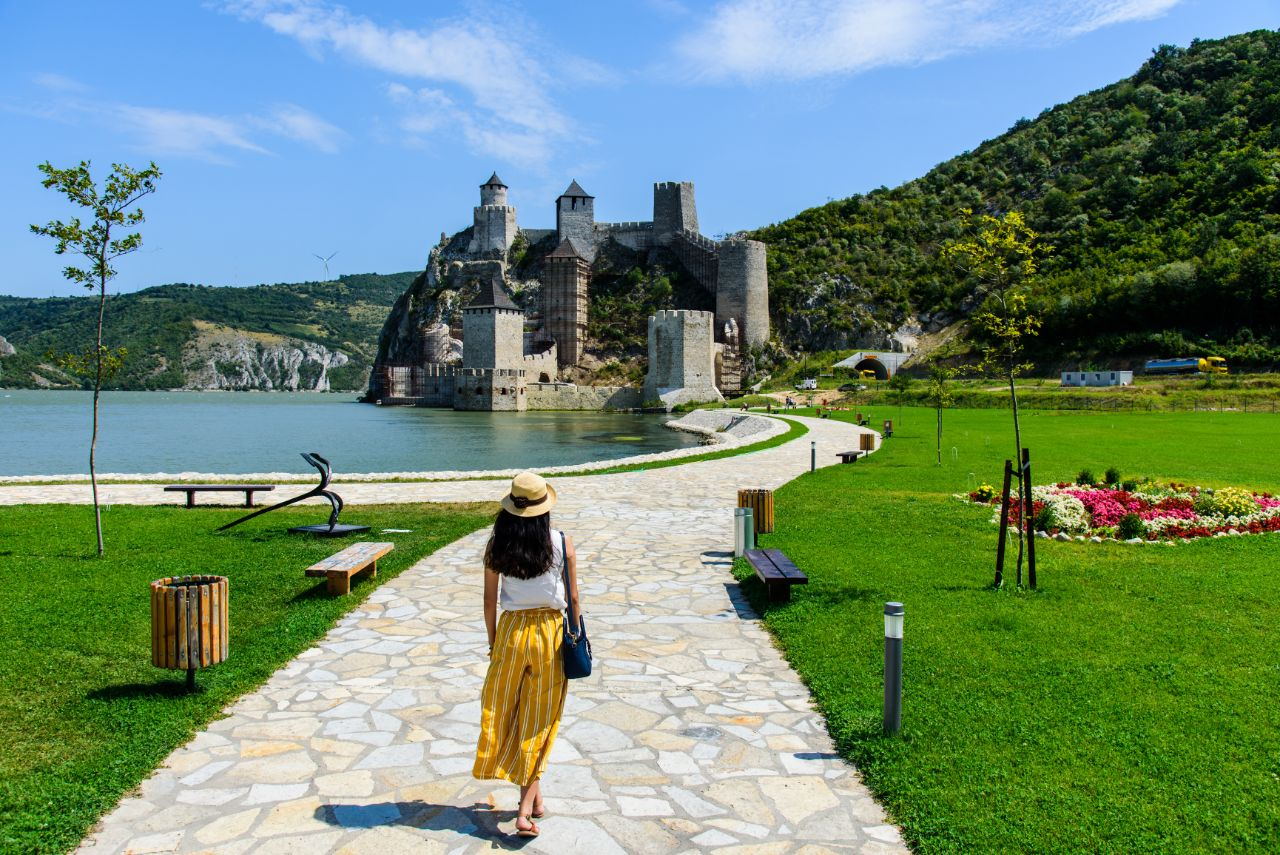 Golubac Fortress visited during Serbia tour