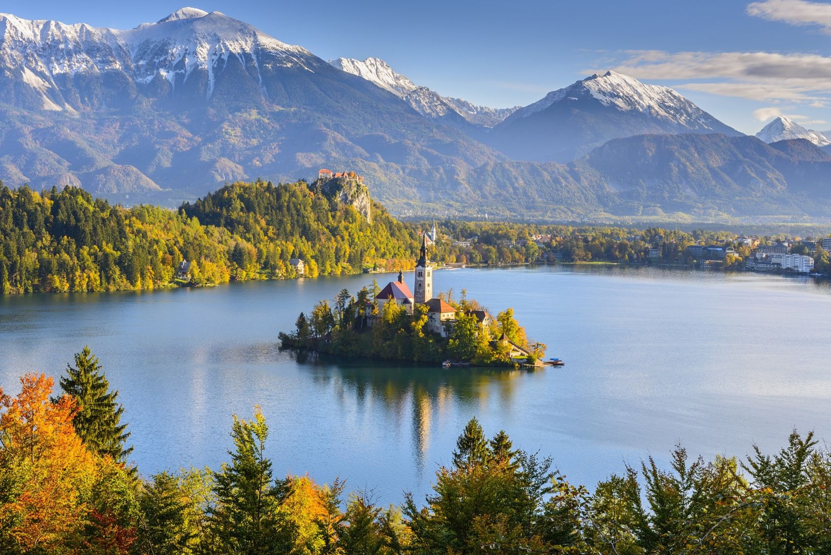 Bled lake ,Slovenia ,Grand Balkan Tour