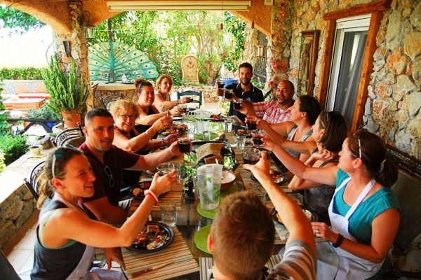 Tasting after culinary workshop Greece food tour